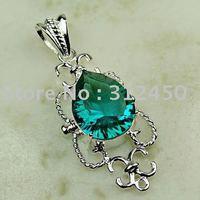Joyas de plata caliente ventas hechas a mano verde amatista envío prasiolite joyas de piedras preciosas sin LP00708 (China (continental))