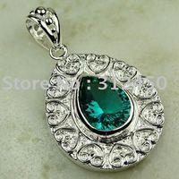 Joyas de plata caliente ventas hechas a mano verde amatista prasiolite piedras preciosas joyas gratis LP0710 de envío (China (continental))