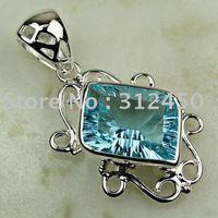 Wholeasle 5PCS joyas de plata de cielo azul topacio de piedras preciosas joyas de envío gratis a LP0706 (China (continental))