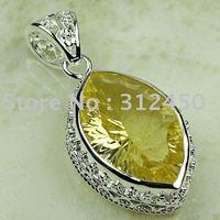 Joyería de plata hechos a mano 5PCS luz citrino piedras preciosas joyas gratis LP0780 de envío (China (continental))