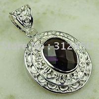 Wholeasle 5PCS  fashion amethyst gemstone silver pendant jewelry free shipping  LP0762(China (Mainland))