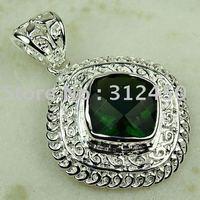 La moda de joyería de plata 5 x peridoto piedra natrual joyería colgante libre LP0764 de envío (China (continental))
