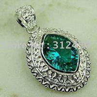 5PCS moda de joyería de plata verde amatista colgante de piedras preciosas joyas prasiolite envío gratis LP0779 (China (continental))