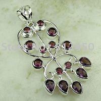 Wholeasle plata moda joyas de piedras preciosas joyas de amatista colgante libre LP0792 de envío (China (continental))