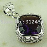 Suppry la moda de joyería de plata amatista colgante de piedras preciosas joyas gratis LP0770 de envío (China (continental))