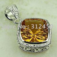 Suppry plata joyería de moda colgante de piedras preciosas morganita envío gratis LP0778 joyas (China (continental))
