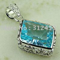 Forma de venta de joyería de plata caliente cielo azul topacio de piedras preciosas joyas colgantes libre LP0772 de envío (China (continental))