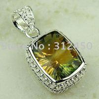 Joyas de plata 5PCS hechos a mano de piedras preciosas topacio místico envío joyas gratis LP0758 (China (continental))