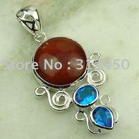 Wholeasle plata joyería de piedras preciosas joyas topacio místico envío gratis LP0798 (China (continental))
