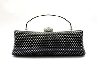 Клатч Black Rhinestone Cluth, Wedding/Party/Evening handbag, Clutch, purse with chains, 1pcs