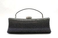 Black Rhinestone Cluth,Wedding/Party/Evening handbag,Clutch,purse with chains,1pcs-Freeshipping