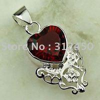 Joyas de plata caliente ventas hechas a mano de piedras preciosas de color rojo Kunzite pendiente de envío joyas gratis LP0119 (China (continental))