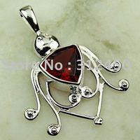 Joyas de plata caliente ventas hechas a mano de piedras preciosas de color rojo Kunzite pendiente de envío joyas gratis LP0114 (China (continental))