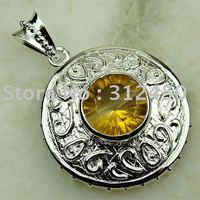 La moda de joyería de plata Suppry hechos a mano de piedras preciosas Topacio místico colgante de joyería de envío gratis LP0271 (China (continental))