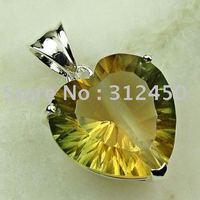 La moda de joyería de plata Suppry hechos a mano de piedras preciosas Topacio místico colgante de joyería de envío gratis LP0269 (China (continental))