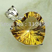 Wholeasle joyería de plata de moda hechos a mano de piedras preciosas Topacio místico colgante de joyería de envío gratis LP0115 (China (continental))