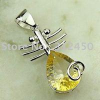 Suppry joyería de plata de moda hechos a mano de piedras preciosas Topacio místico colgante joyas gratis LP0018 de envío (China (continental))