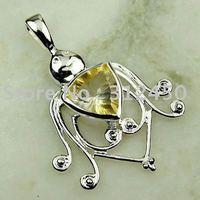 Wholeasle 5PCS moda de joyería de plata hechos a mano de piedras preciosas Topacio místico colgante joyas gratis LP0106 de envío (China (continental))