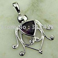 Wholeasle 5PCS moda de joyería de plata hechos a mano de piedras preciosas Topacio místico colgante joyas gratis LP0116 de envío (China (continental))