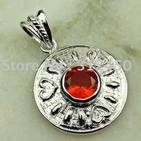 Wholeasle 5PCS moda de joyería de plata hechos a mano coñac piedra citrina colgante de joyería de envío gratis a LP0108 (China (continental))