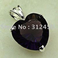 La moda de joyería de plata Wholeasle hechos a mano colgante amatista piedras preciosas joyas de envío gratis LP0266 (China (continental))