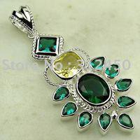 Plata joyería de moda peridoto piedra natrual colgante envío gratis LP0005 joyas (China (continental))