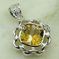 Joyería de plata colgante de piedras preciosas topacio místico joyas gratis LP0510 de envío (China (continental))