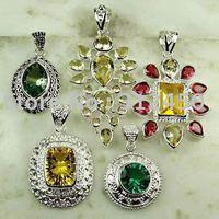 Moda conjunto 5PCS plata joyería de piedras preciosas colgantes envío gratis a N4266 (China (continental))