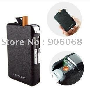 factory price auto magic cigarette case with lighter, auto cigarette box, cigarette holder