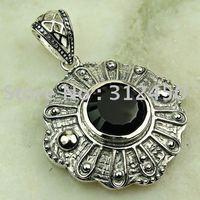 Suppry joyería de plata hechos a mano de piedras preciosas de ónix negro envío joyas gratis LP0538 (China (continental))