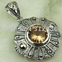 Joyería de moda de plata hechos a mano de piedras preciosas joyas gratis morganita LP0532 de envío (China (continental))
