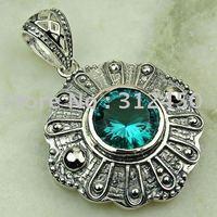 5PCS joyería de plata hechos a mano verde amatista prasiolite piedras preciosas joyas gratis LP0531 de envío (China (continental))