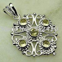 Joyas de plata de la luz citrino piedra colgante de joyería libre LP0633 de envío (China (continental))