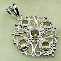 Joyas de plata de cuarzo ahumado de piedras preciosas joyas colgantes envío gratis LP0615 (China (continental))