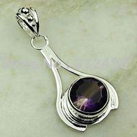 Joyería de plata colgante de piedras preciosas topacio mysitc joyas envío gratis LP0620 (China (continental))