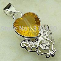 Moda joyas de plata colgante de piedras preciosas topacio mysitc joyas de envío gratis a LP0619 (China (continental))