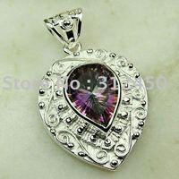 Moda joyas de plata 5pcs mysitc topacio colgante de piedras preciosas joyas de envío gratis a LP0635 (China (continental))