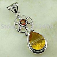 Suppry 5PCS wholeasle plata joyería de piedras preciosas joyas mysitc topacio colgante libre LP0631 de envío (China (continental))