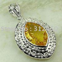 Suppry 5PCS wholeasle plata joyería de piedras preciosas citrino colgante joyas envío gratis LP0627 (China (continental))