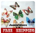 Wholesale Glow in Dark Butterfly On Your Curtain! Vivid Butterfly With Magnet or Pin For Home And Garden Decoration