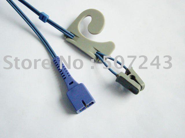 Nellcor D-YSE adult ear-clip Spo2 sensor 3FT 1 Meter Free shipping