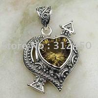 Suppry joyería de plata hechos a mano 5PCS humo de envío de cuarzo joyas de piedras preciosas sin LP0070 (China (continental))