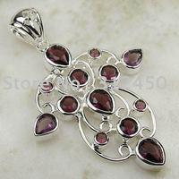 Suppry joyería de plata hechos a mano 5PCS envío amatista joyas de piedras preciosas sin LP0074 (China (continental))