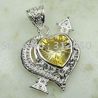 Suppry joyería de plata hechos a mano 5PCS piedra topacio místico envío joyas gratis LP0076 (China (continental))