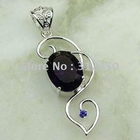 Suppry joyería de plata hechos a mano 5PCS colgante de piedra preciosa amatista envío joyas gratis LP0551 (China (continental))