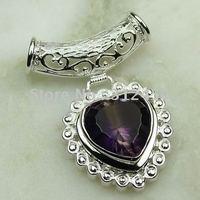 Moda joyería de plata hechos a mano de piedras preciosas Topacio místico colgante joyas gratis LP0550 de envío (China (continental))