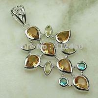 Joyería de moda de plata hechos a mano de piedras preciosas morganita pendiente de envío joyas gratis LP0055 (China (continental))