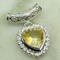 Joyería de moda de plata hechos a mano de piedras preciosas Topacio místico colgante de joyería de envío gratis LP0548 (China (continental))