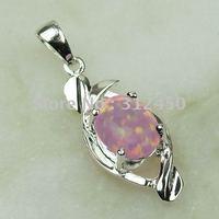 Moda joyas de plata 5PCS hechos a mano de piedras preciosas de color rosa ópalo de fuego de envío joyas gratis LP0047 (China (continental))