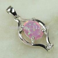 Moda joyas de plata 5PCS hechos a mano de piedras preciosas de color rosa ópalo de fuego de envío joyas gratis LP0044 (China (continental))